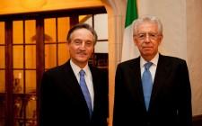 Claudio Bisogniero and Mario Monti, Italian Prime Minister