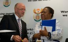 South African ministers Derek Hanekom & Naledi Pandor