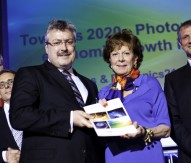 Dr Michael Mertin and European Commissioner Neelie Kroes at the launch of the new PPP