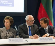 European Commissioner Vice-President Neelie Kroes and Lithuanian Science Minister Professor Dr Dainius Pavalkis