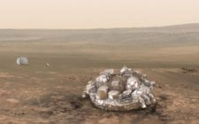 Schiaparelli will cuts its engines 2m above Mars' surface and dump down © ESA